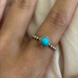 Pandora December Ring, Turquoise, size 7